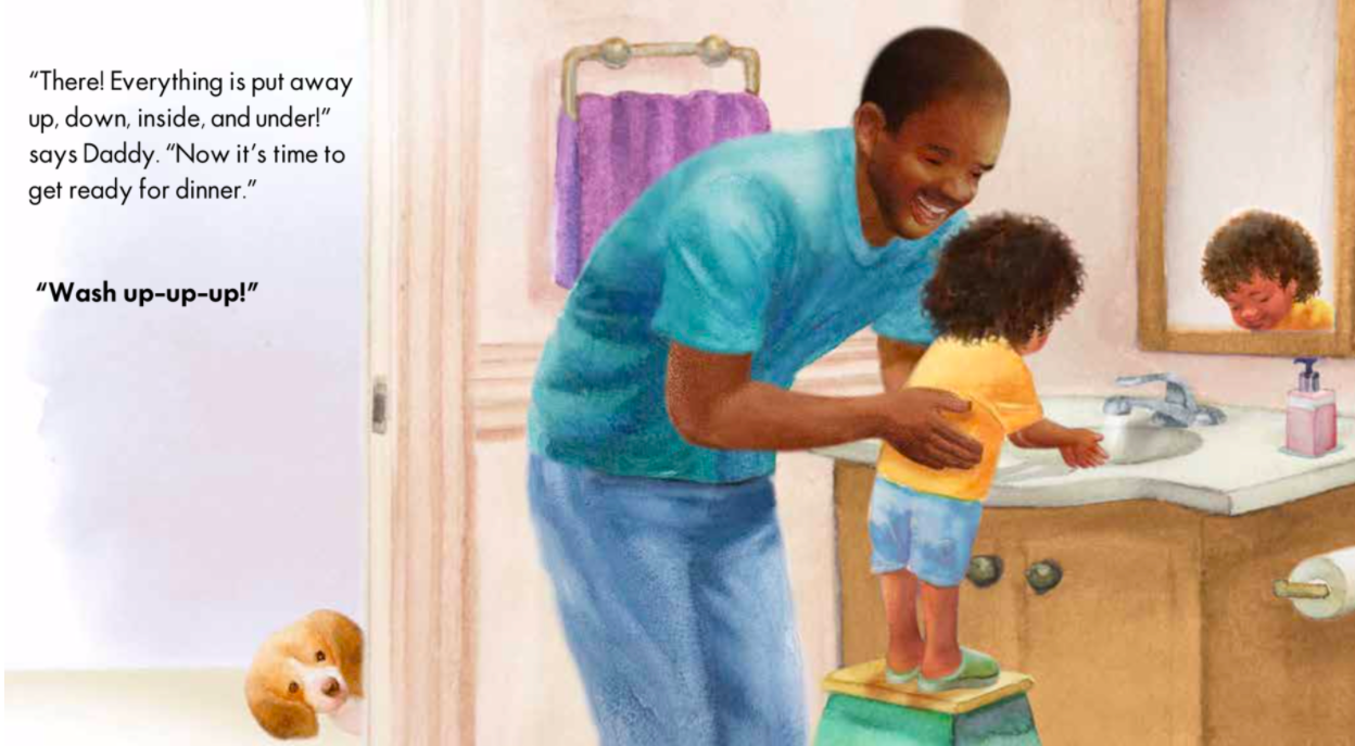 celebrate-picture-books-picture-book-review-clean-up-up-up-washing-hands