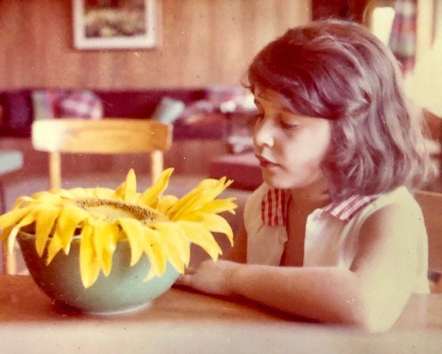 celebrate-picture-books-picture-book-review-Ellen-Mayer-with-sunflower
