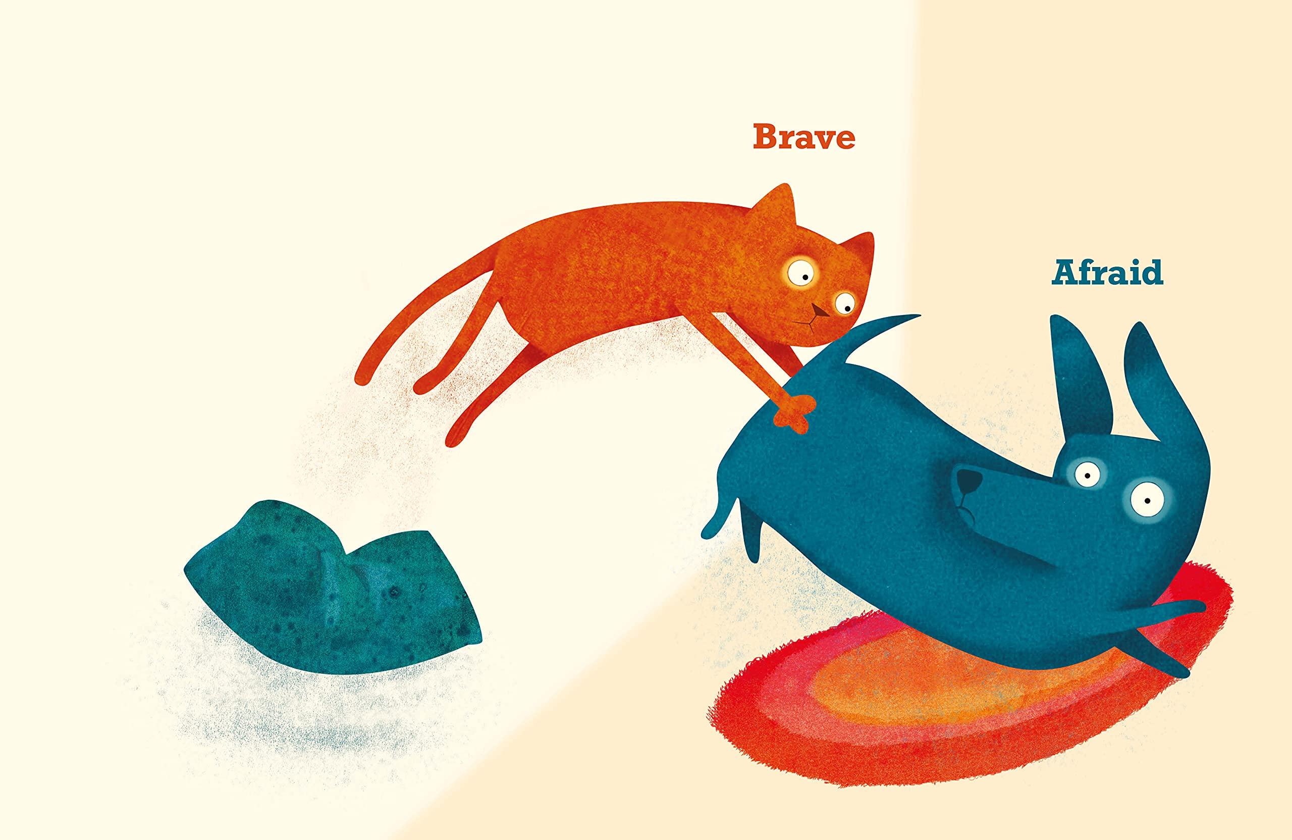 celebrate-picture-books-picture-book-review-cat-and-dog-a-tale-of-opposites-brave