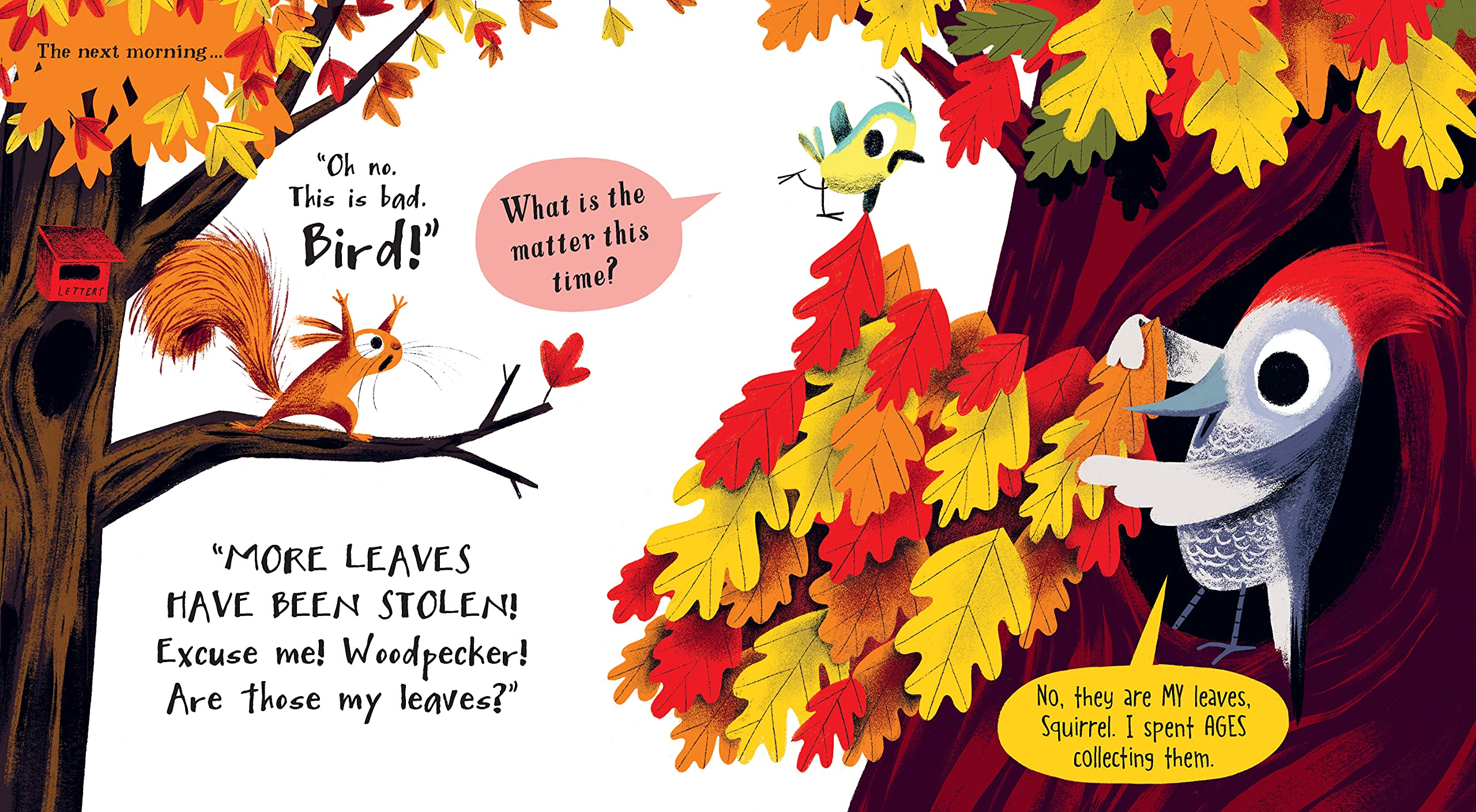 celebrate-picture-books-picture-book-review-the-leaf-thief-woodpecker