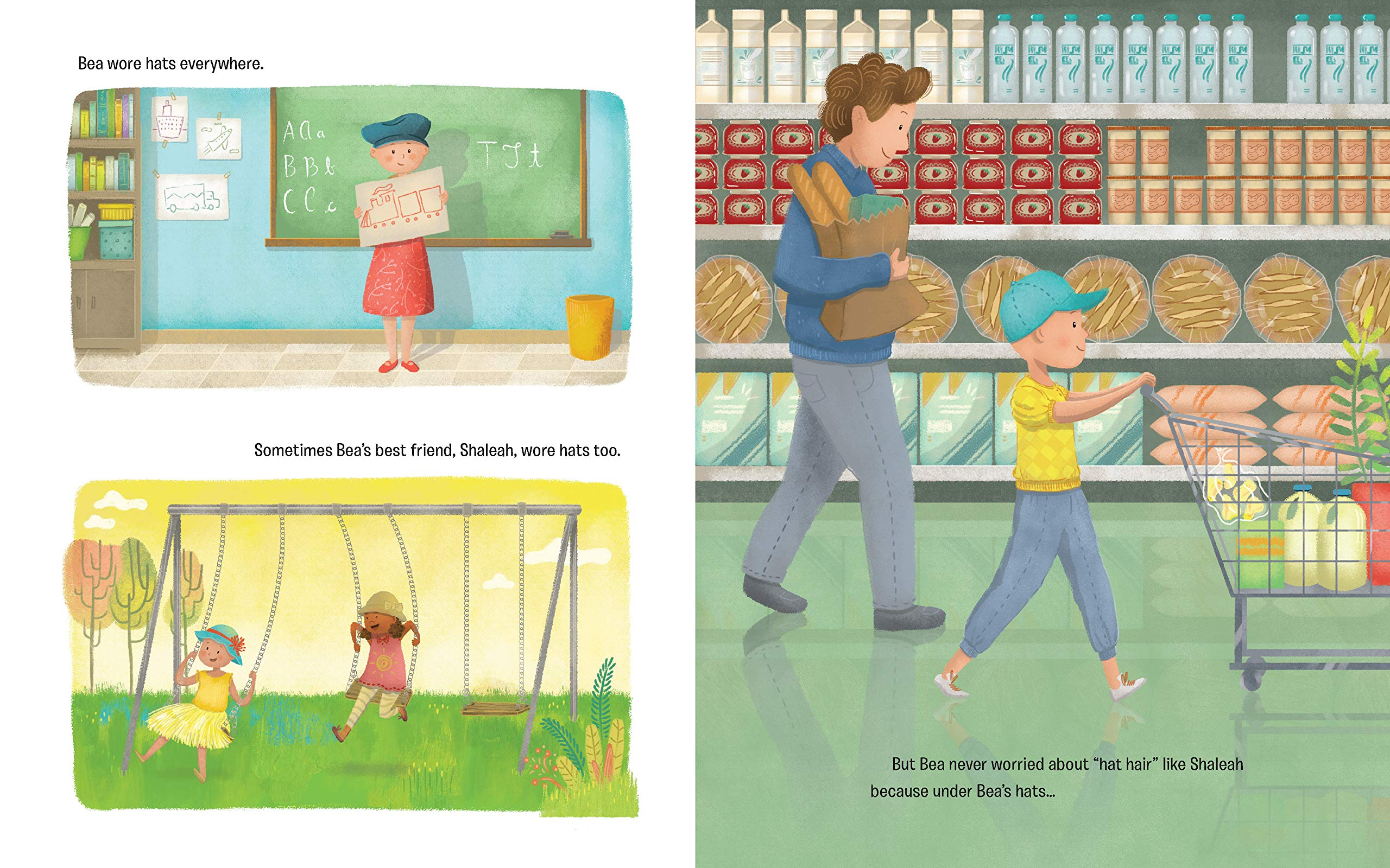 celebrate-picture-books-picture-book-review-what's-silly-hair-day-with-no-hair-hats