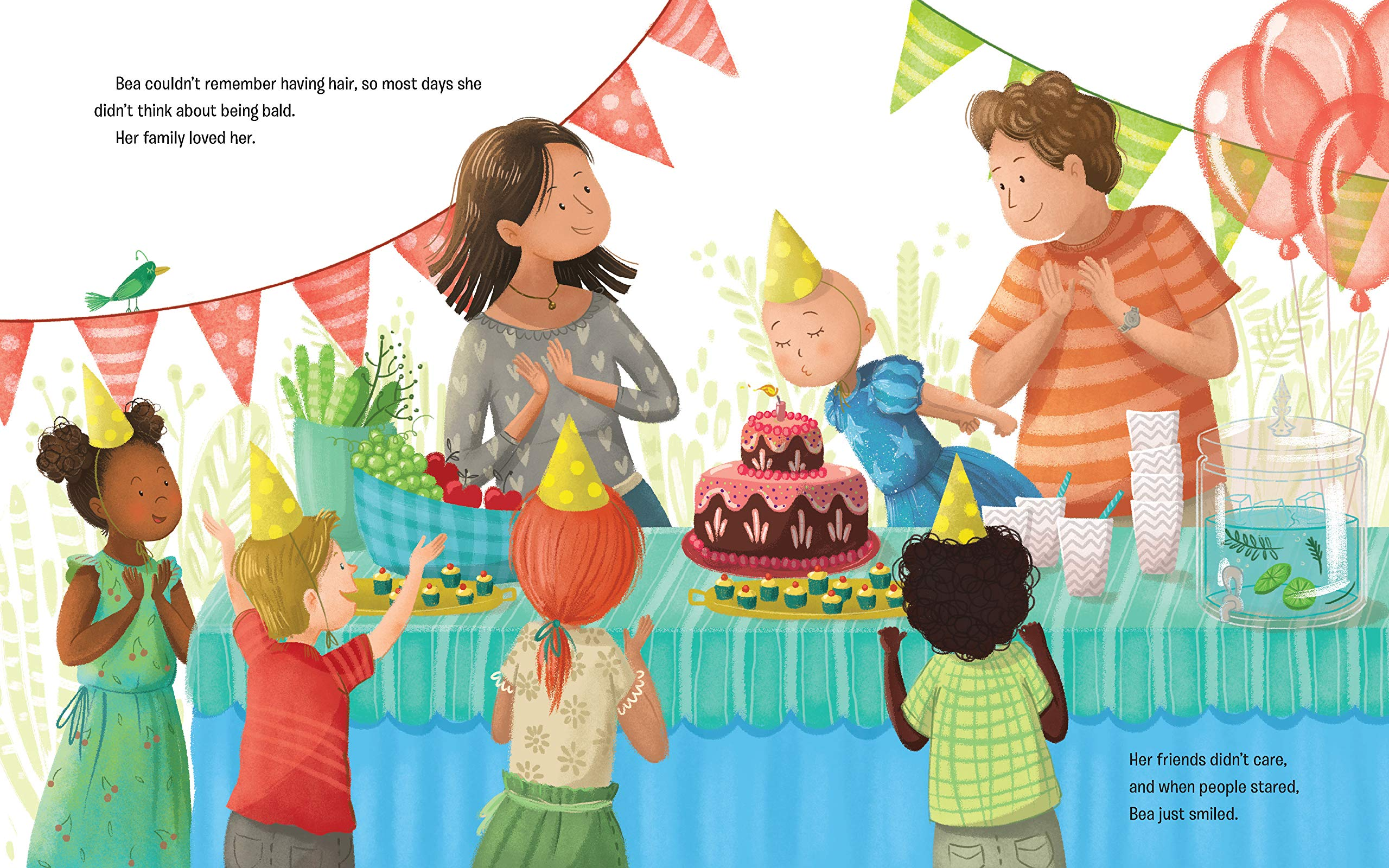 celebrate-picture-books-picture-book-review-what's-silly-hair-day-with-no-hair-party