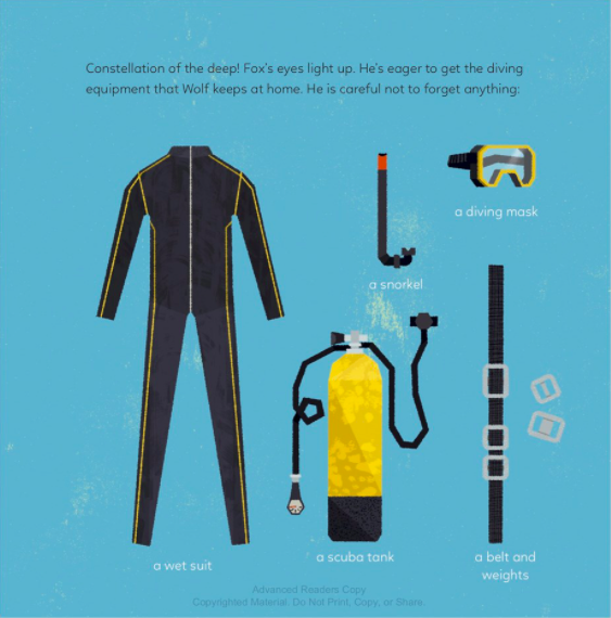 celebrate-picture-books-picture-book-review-constellation-of-the-deep-scuba-gear