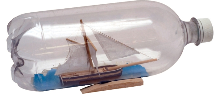 Scout Life Ship in a Bottle Craft