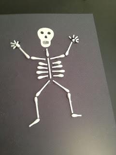 A Little Artsy A Little Craftsy Q-tip Skeleton Image 2