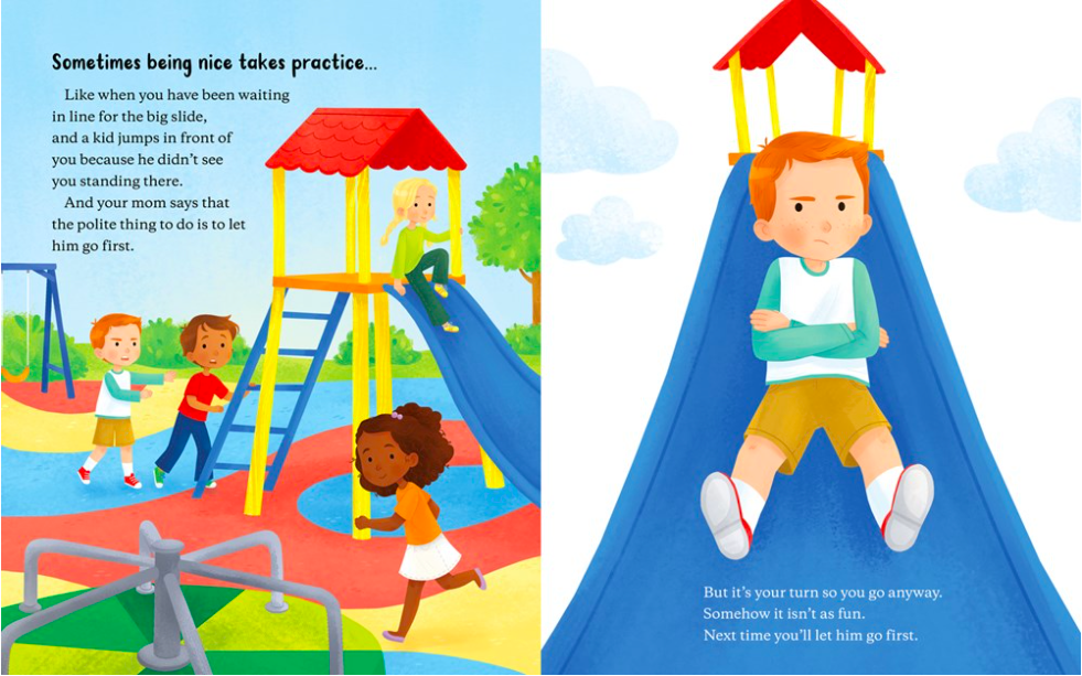 celebrate-picture-books-picture-book-review-it's-hard-to-be-nice-playground