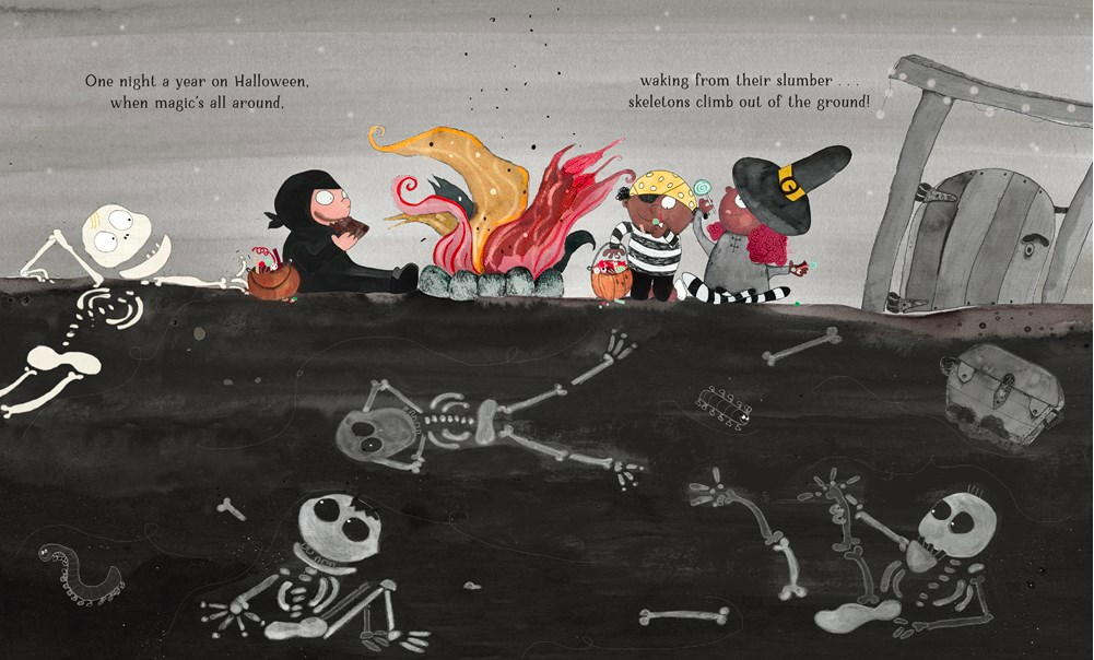celebrate-picture-books-picture-book-review-if-you-ever-meet-a-skeleton-graveyard