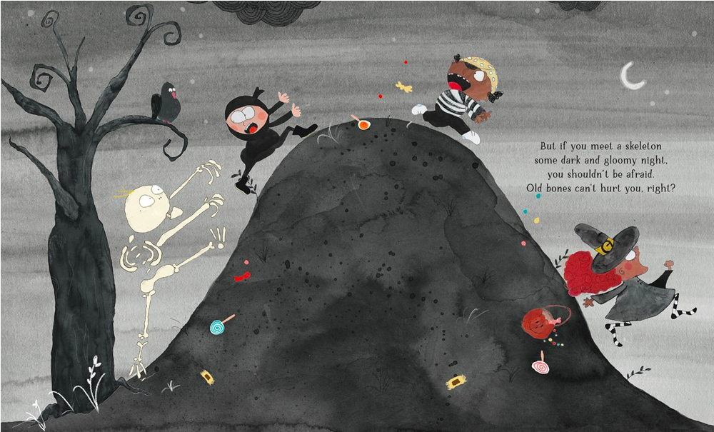 celebrate-picture-books-picture-book-review-if-you-ever-meet-a-skeleton-running