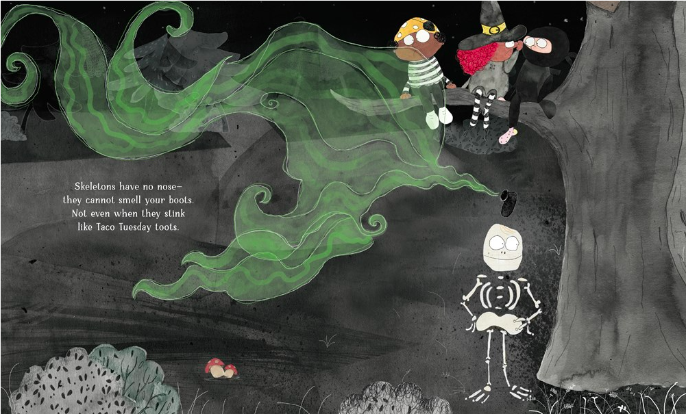 celebrate-picture-books-picture-book-review-if-you-ever-meet-a-skeleton-boots