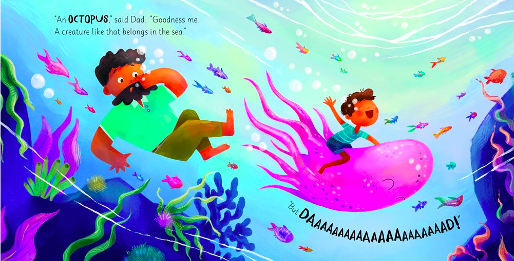 celebrate-picture-books-picture-book-review-all-I-want-is-an-octopus-swimming